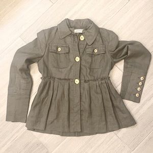 Zara Women- Linen Jacket(gray)  size- SMALL
